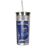 Kansas City Royals 14oz Stainless Bling Wrap Tumbler with straw