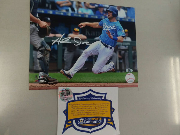 Kansas City Royals Hunter Dozier Signed Autographed Horizontal 8x10 Photo COA