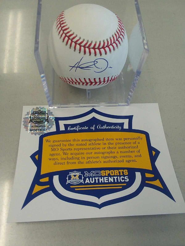 Kansas City Royals Hunter Dozier Signed Autographed OMLB Baseball COA