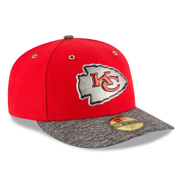 Kansas City Chiefs New Era 2016 NFL Draft On Stage Low Profile 59FIFTY Fitted Hat - Red/Heather Gray