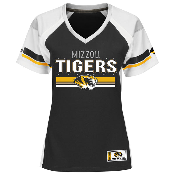 Missouri Tigers Draft Me Ladies V Neck T Shirt by Majestic
