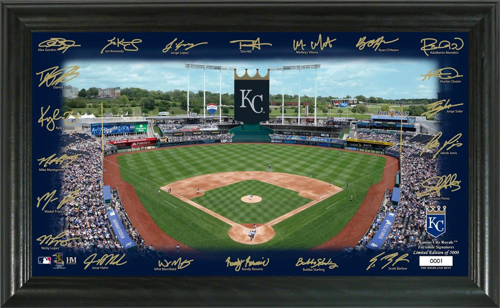 Kansas City Royals 2020 Signature Field Limited Edition Frame