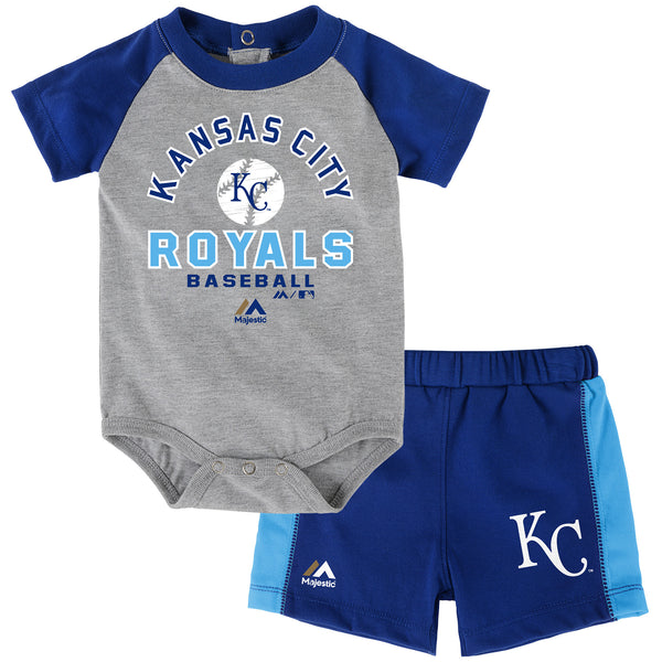 Kansas City Royals Infant Fan Favorite Onesie Short 2 Piece Set by Outerstuff