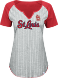 St. Louis Cardinals Ladies From The Stretch Fashion T-Shirt by Majestic