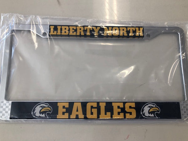 Liberty North Eagles Metal License Plate Frame
