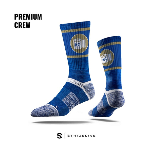 "Royals ""Toilet Paper"" Athletic Crew Socks by Strideline"