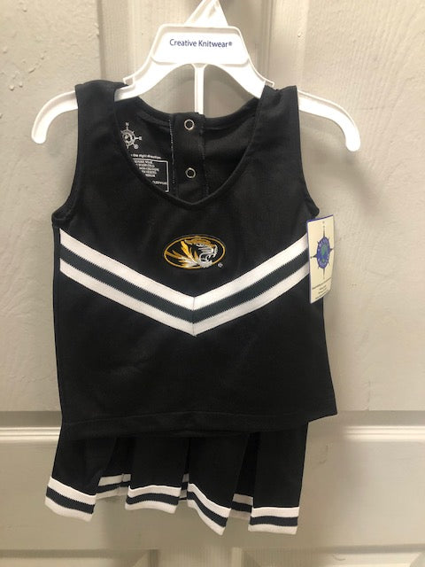 Missouri Tigers Cheerleader Outfit 3 pieces