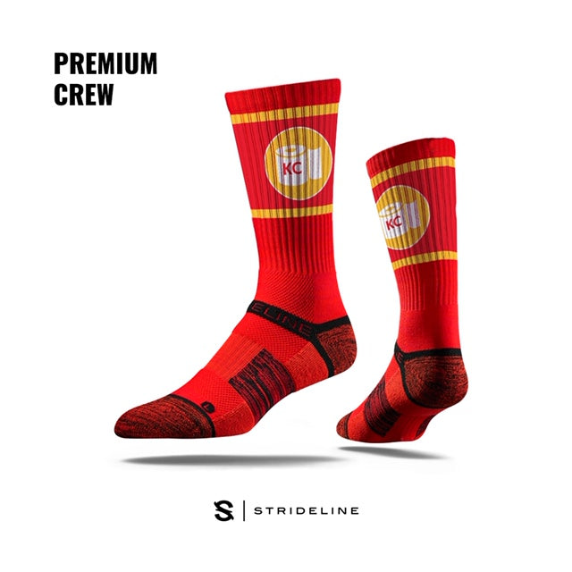 "Chiefs ""Toilet Paper"" Athletic Crew Socks by Strideline"