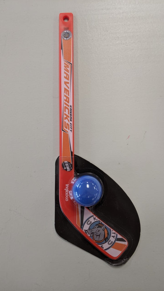 "Kansas City Mavericks ""KC Mavericks"" Hockey Stick with Ball"