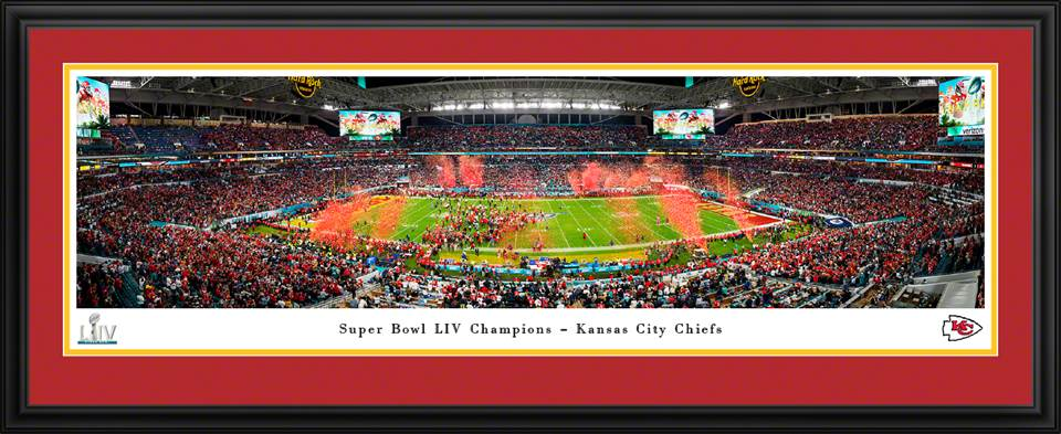 Framed SB LIV Chiefs Champs Celebration Panorama