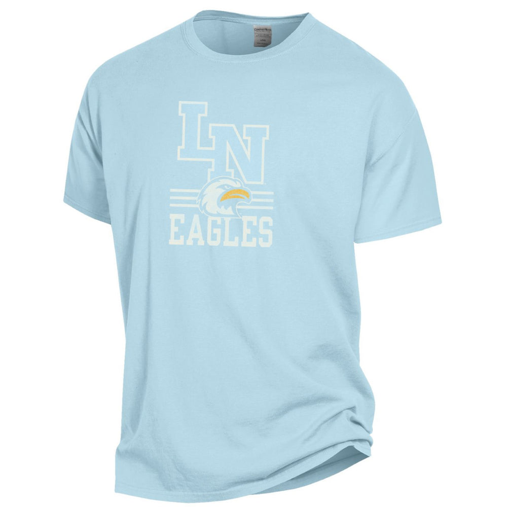 Liberty North Eagles Comfort Wash Logo Soothing Blue Short Sleeve T-Shirt by Gear