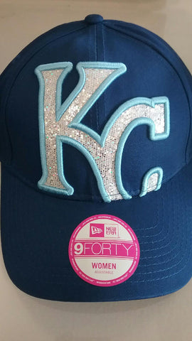 Kansas City Royals Glitter Glam 9FORTY Adjustable Hat by New Era