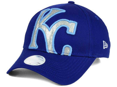 Kansas City Royals Ladies Glitter Glam 3 Adjustable 9FORTY Hat by New Era