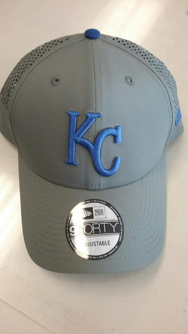Kansas City Royals Gray Perf Pivot Adjustable 9FORTY Hat by New Era