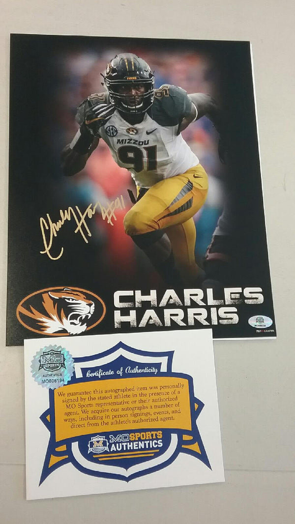 "Missouri Tigers Charles Harris Signed Autographed 8""x10"" Photo COA"