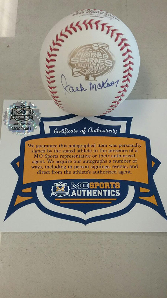 Florida Marlins Jack McKeon Signed Autographed 2003 World Series Baseball COA