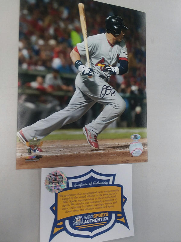 St. Louis Cardinals Jon Jay Signed Autographed World Series 8x10 Photo COA