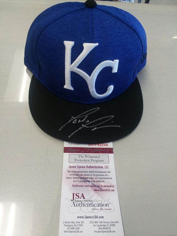 Kansas City Royals Jakob Junis Signed Autographed Royals Hat JSA