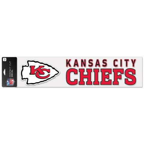 "Kansas City Chiefs Perfect Cut Decals 4"" x 17"""