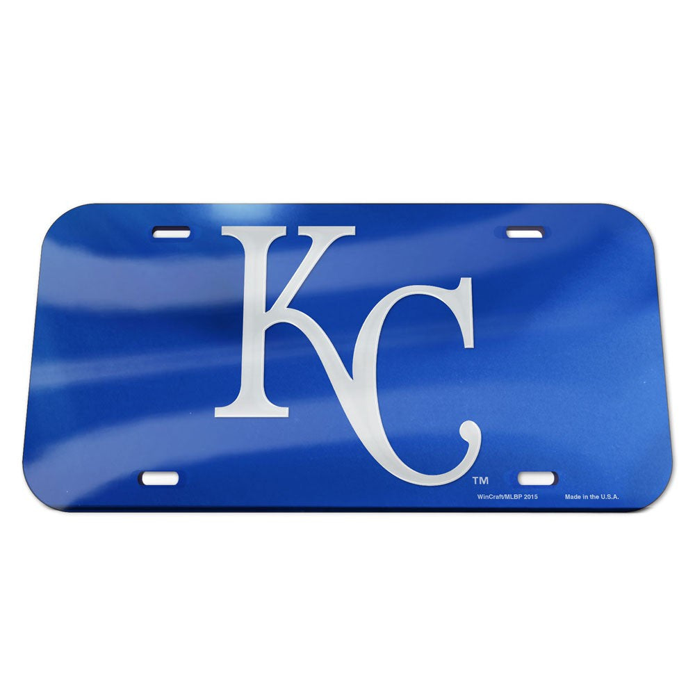 Kansas City Royals Crystal Mirror License Plate