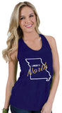 Liberty North Eagles Katie Twist Back Tank Top by Stadium Chic