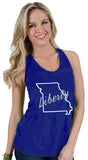 Liberty Blue Jays Katie Twist Back Tank Top by Stadium Chic