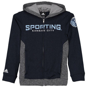 Sporting Kansas City Kids Full Zip Hooded Sweatshirt by adidas