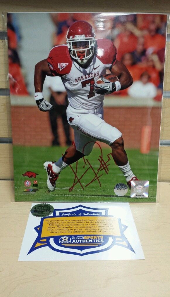 "Arkansas Razorbacks Knile Davis Autographed 8""x10"" Photo COA"