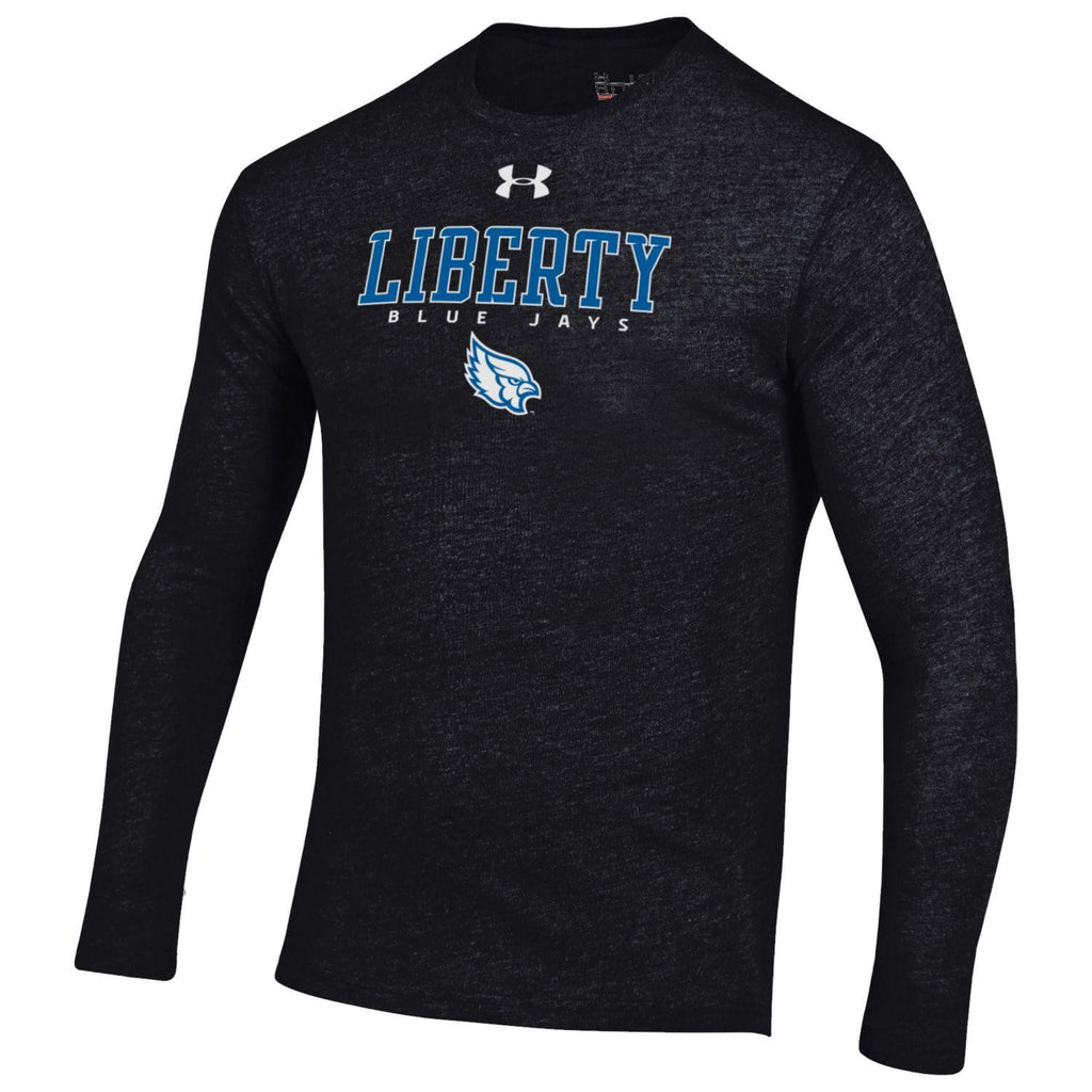 Liberty Blue Jays Legacy Crew Tri Blend Black Long Sleeve T-Shirt by Under Armour