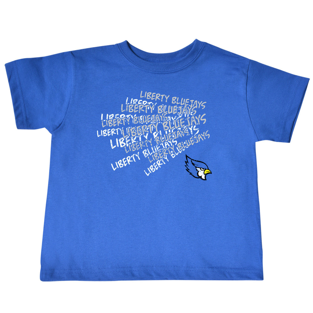 Liberty Blue Jays Royal Blue Cheer Design Toddler T-Shirt