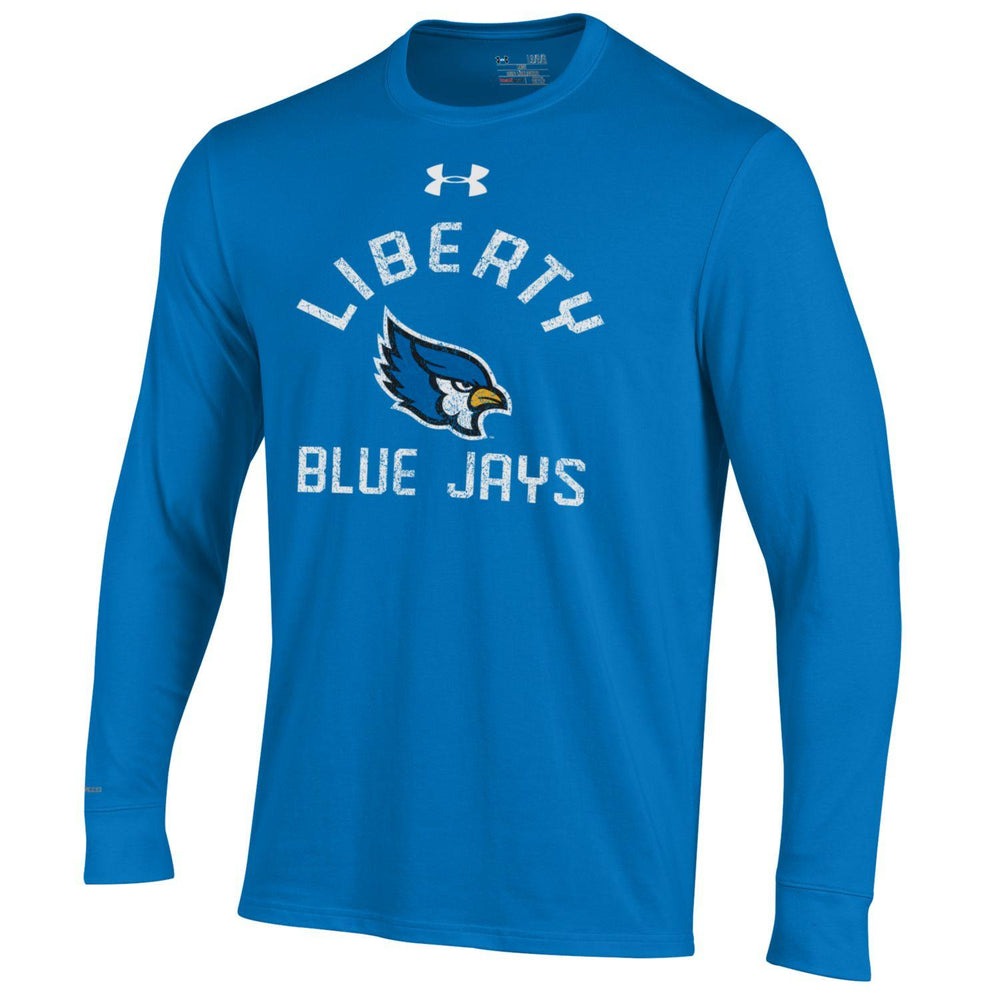 Liberty Blue Jays Circle Logo Long Sleeve Charged Cotton Royal T-Shirt by Under Armour
