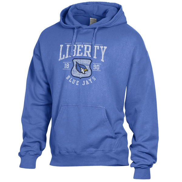 Liberty Blue Jays Hanes Comfort Wash Hooded Sweatshirt