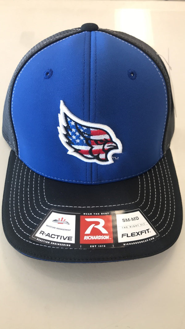 Liberty Blue Jays 172 American Flag Logo Stretch Fit Hat by Richardson