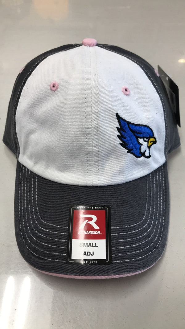 Liberty Blue Jays 322 Adjustable Unstructured White/Gray/Pink Hat by Richardson