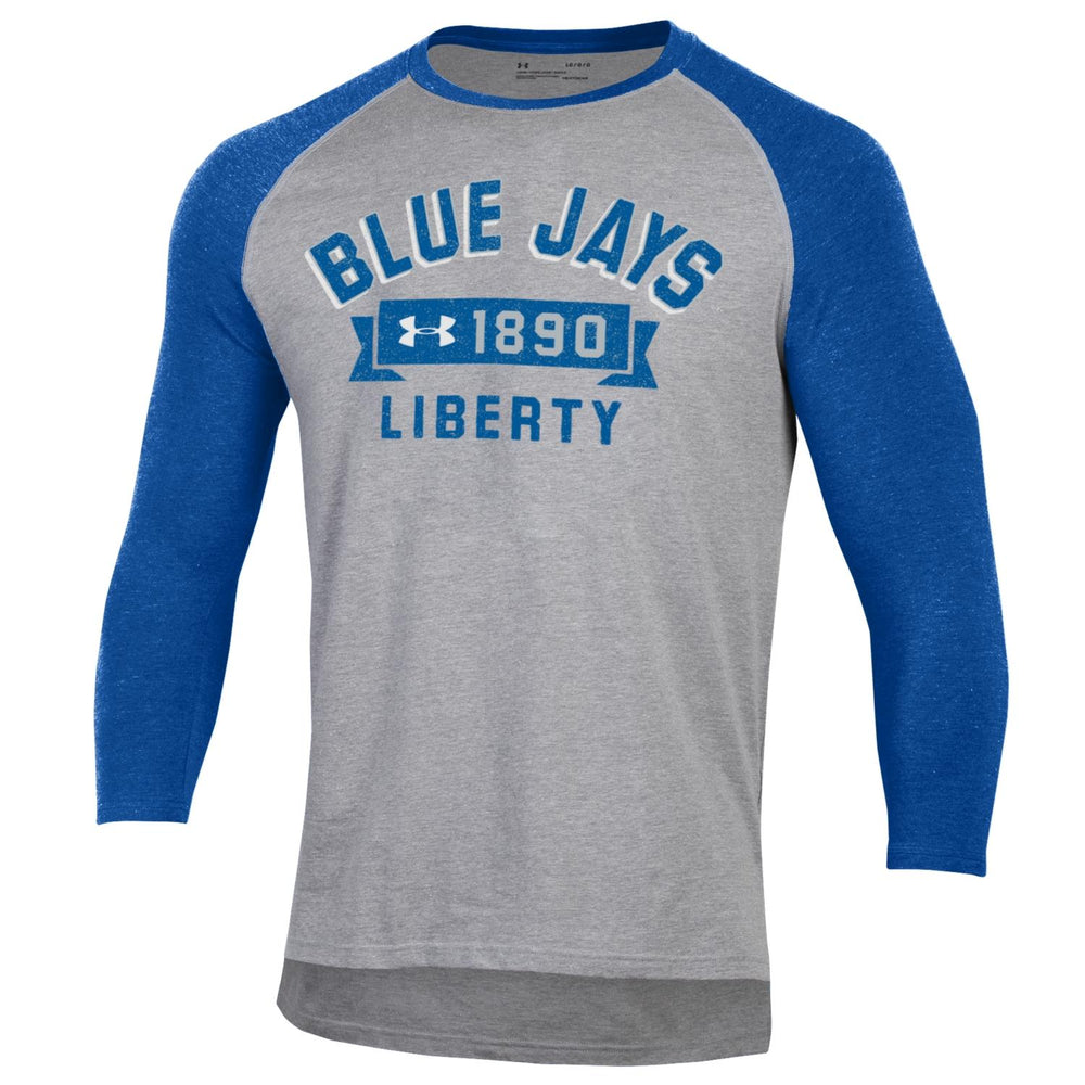 Liberty Blue Jays Arched Banner Baseball Raglan T-Shirt by Under Armour