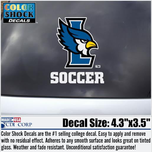 Liberty Blue Jays Soccer Color Shock Decal