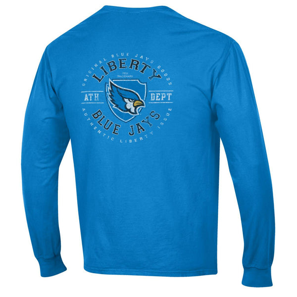 Liberty Blue Jays Comfort Wash Shield Logo Long Sleeve T-Shirt by Gear