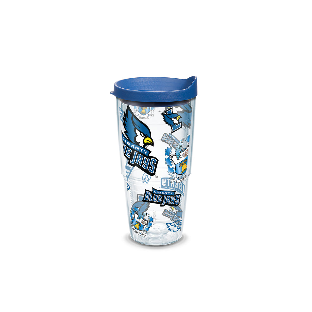 Liberty Blue Jays 24 oz. All Over Wrap Tumbler w/ Lid by Tervis