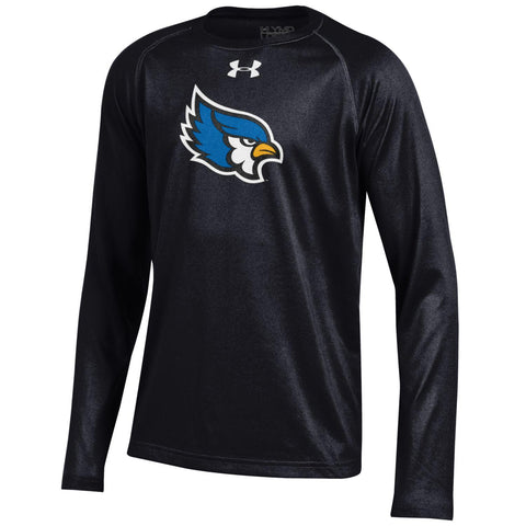Liberty Blue Jays Youth Black Long Sleeve Performance NuTech T-Shirt by Under Armour