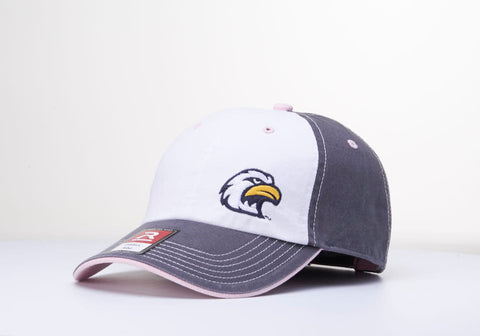 Liberty North Eagles 322 Adjustable Unstructured White/Gray/Pink Adjustable Hat by Richardson