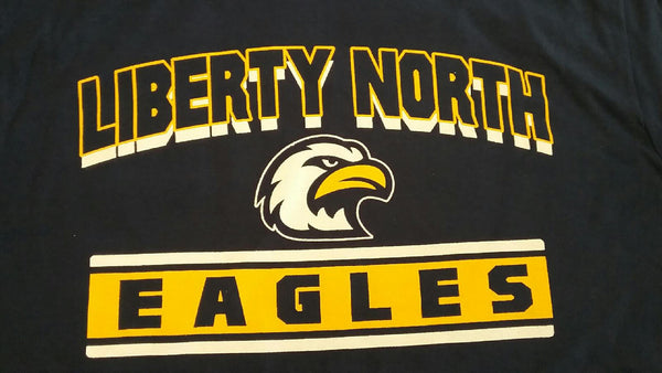 Liberty North Eagles Navy Youth T-Shirt