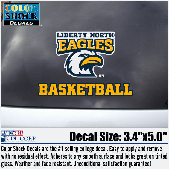 Liberty North Eagles Basketball Color Shock Decal