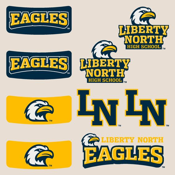 Liberty North Eagles Body Cals Removable Body Decals