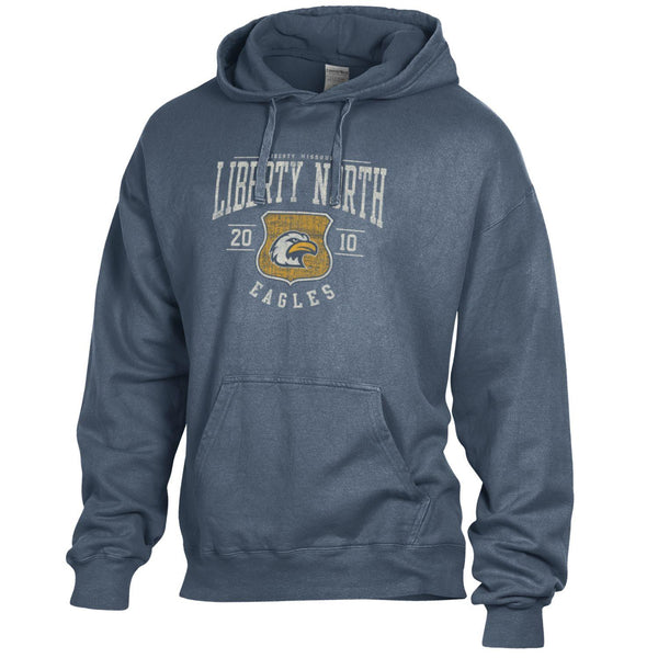 Liberty North Eagles Hanes Comfort Wash Hooded Sweatshirt