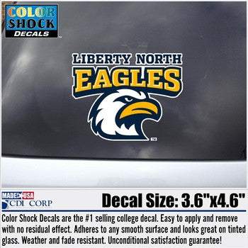 Liberty North Eagles Color Shock Decal