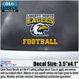Liberty North Eagles Football Color Shock Decal