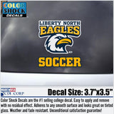 Liberty North Eagles Soccer Color Shock Decal