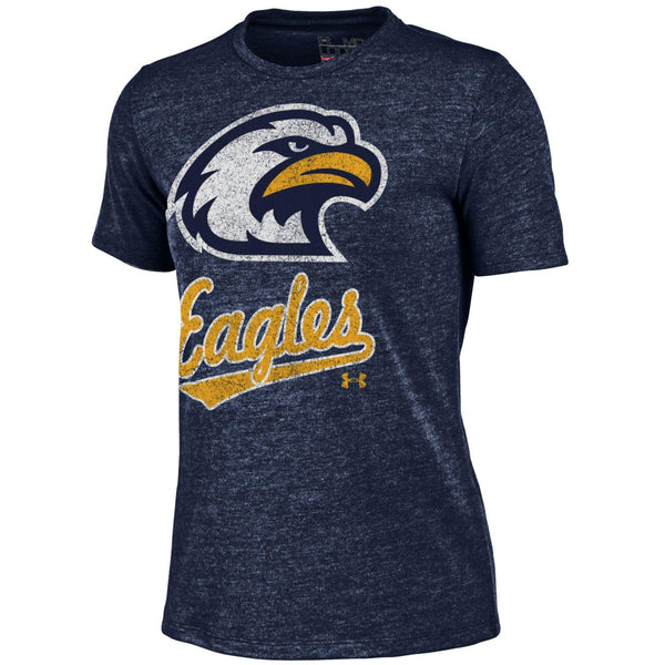 Liberty North Eagles Ladies Navy Script Tri-Blend Crew T-Shirt by Under Armour