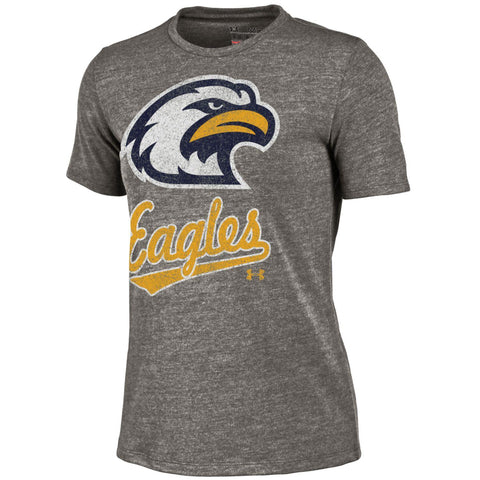 Liberty North Eagles Ladies Gray Script Tri-Blend Crew T-Shirt by Under Armour