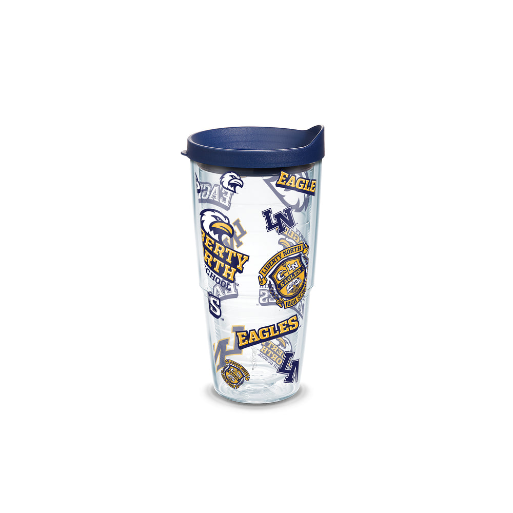 Liberty North Eagles 24 oz. All Over Wrap Tumbler w/ Lid by Tervis